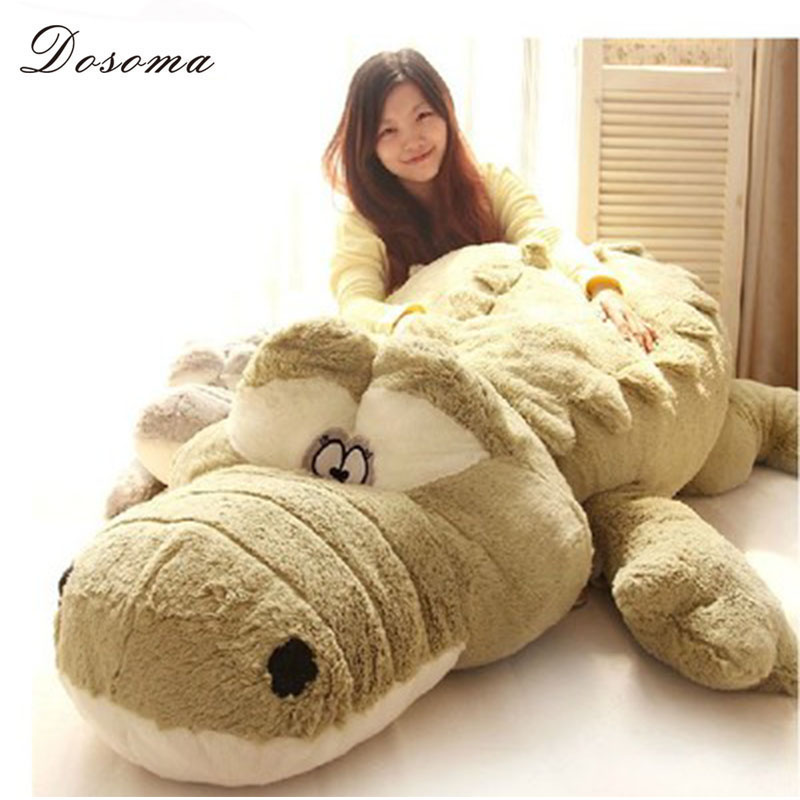 Creative Oversized Cute Crocodile Lying Section Plush Pillow Mat Plush Hand Doll Stuffed Toy Cartoon Plush Toys Kids Prize Gift(China (Mainland))