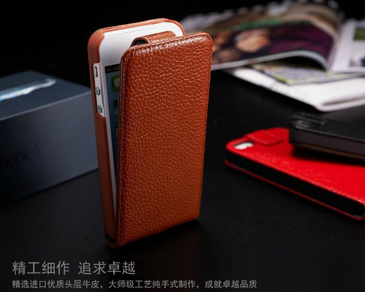 Luxury Holster Cover For iPhone 5s cell phone cases Genuine Leather Cover Case For iPhone 5 case Flip Cover shell free shipping(China (Mainland))