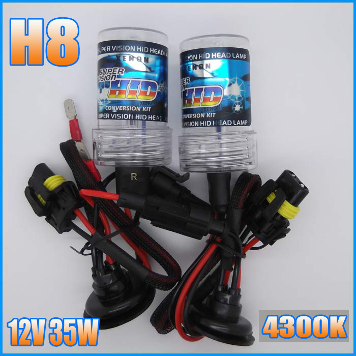 2013 AUTO lighting system HID Xenon Bulb Conversion Kit Lamp 12V 35W H8 4300K Car HeadLight Lamp(China (Mainland))