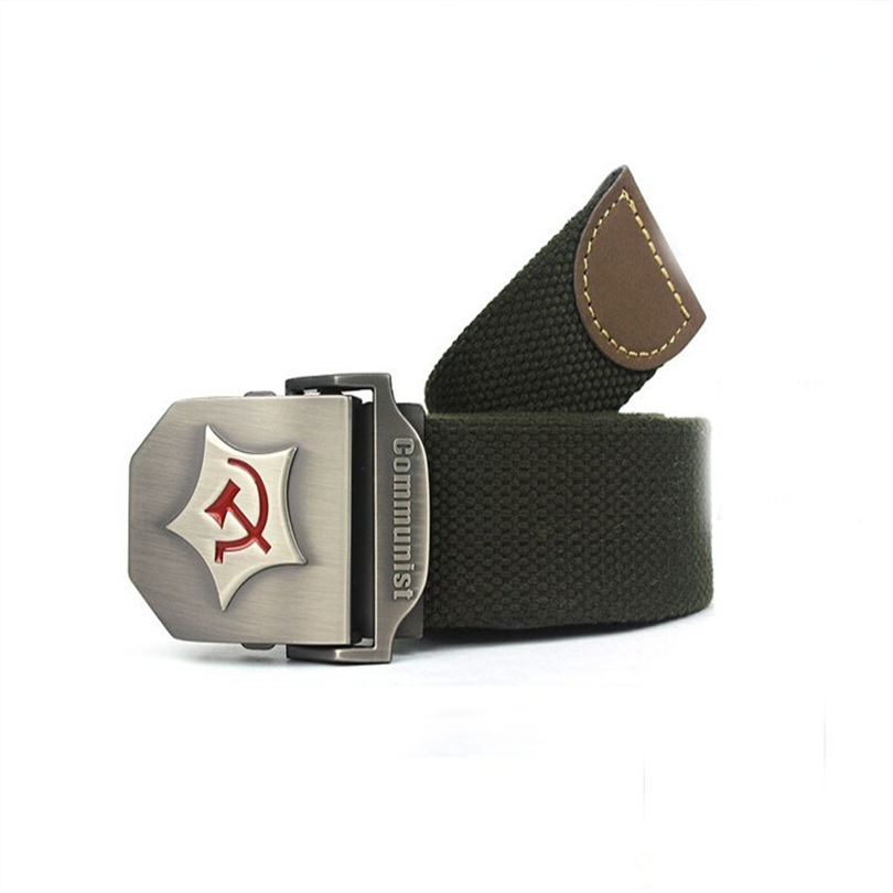 2016 New Men Belt Thicken Canvas Military Belt Army Tactical Belt Strap Automatic Military Accessories Belts Mens Q-CXS-132(China (Mainland))