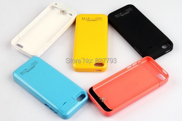 10PCS Wholesale UPS/DHL 2200mAh Rechargeable for iPhone 5C External Battery Case 5C 5G 5S Power Charger Cover Pack with Package(China (Mainland))