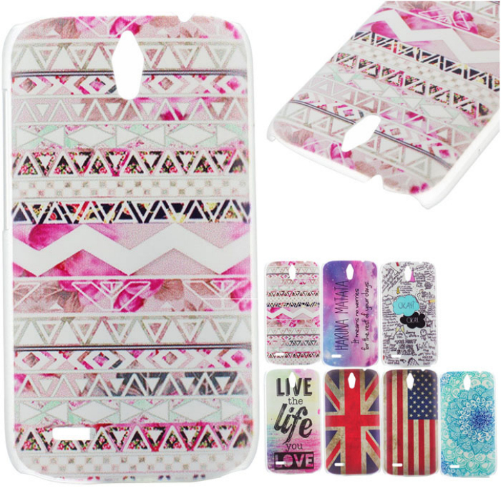 Hot Marketing New Clear Painted Various Pattern PC Hard Back Case Cover Skin For Huawei Ascend G610 May6(China (Mainland))