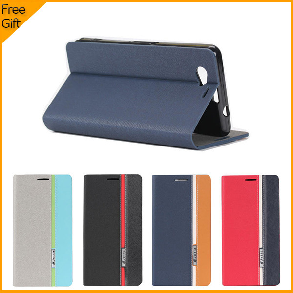 Luxury PU Leather Wallet Flip Case Cover For Sony Xperia Z1 Compact D5503 Cell Phone Case Back Cover With Card Holder Black