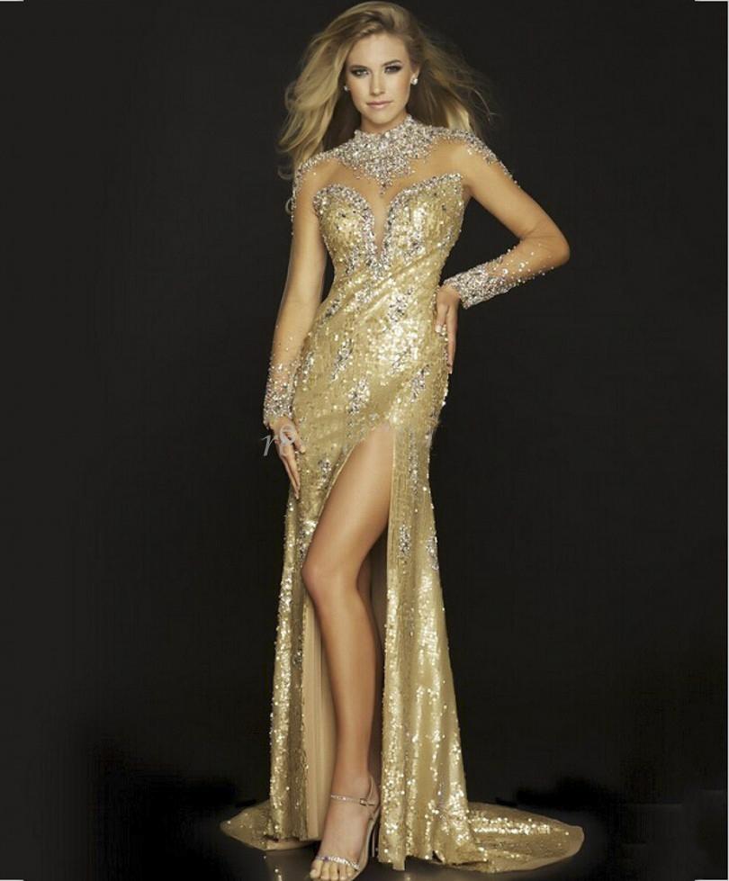 Online Get Cheap Slit Mermaid Dress Long Gold -Aliexpress.com ...