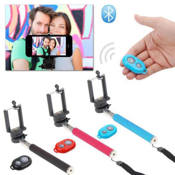 Bluetooth tripod selfie stick Rotary Extendable Handheld Camera Tripod Mobile Phone Monopod+ Wireless Bluetooth Remote Control(China (Mainland))