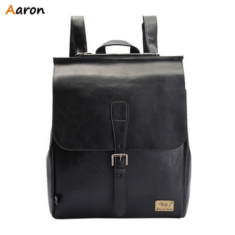 Aaron - Luxury Simple Fresh Best School Backpacks For Male,Korean Retro College Wind Bag For Teenage,Durable Large Leather Bags(China (Mainland))