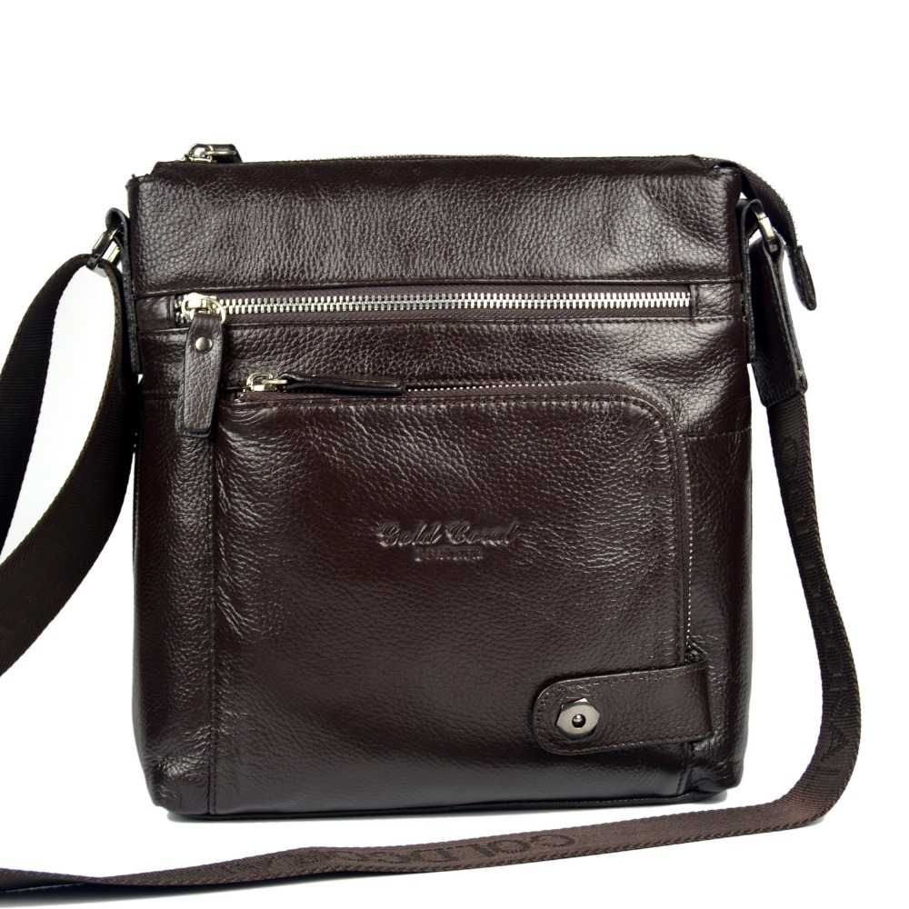 commercial cowhide shoulder bag messenger bag casual genuine leather  man bag male<br><br>Aliexpress