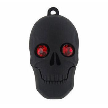 Novelty cartoon diamond skull head shape USB Flash Drive memory stick pen drive REAL 4GB 8GB 16GB 32G 64G pendrive Free shipping(China (Mainland))