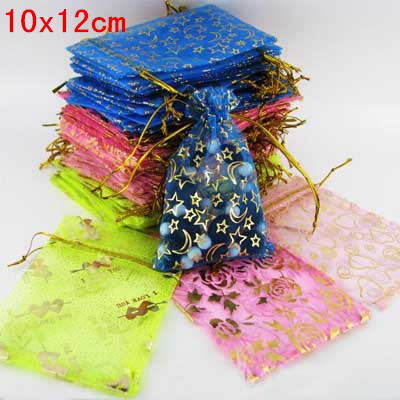 10x12cm Big Organza pouches mixed color bags jewelry Packaging wedding/christmas/gift/candy/present pouches free shipping<br><br>Aliexpress