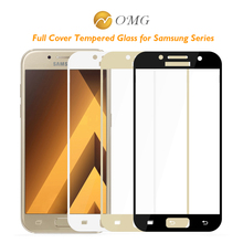 Buy Full Screen Tempered Glass Samsung Galaxy A3 A5 A7 2017 2016 320 520 720 Front Full Cover Protective Film Screen Protector for $1.94 in AliExpress store