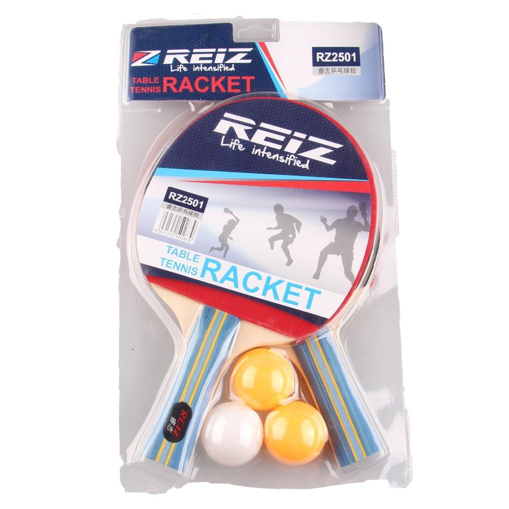 Short or Long Handle Shake-hand Table Tennis Set 2 Rackets + 3 Table Tennis Balls Ping Pong Paddle Table Tennis Racket 2501(China (Mainland))