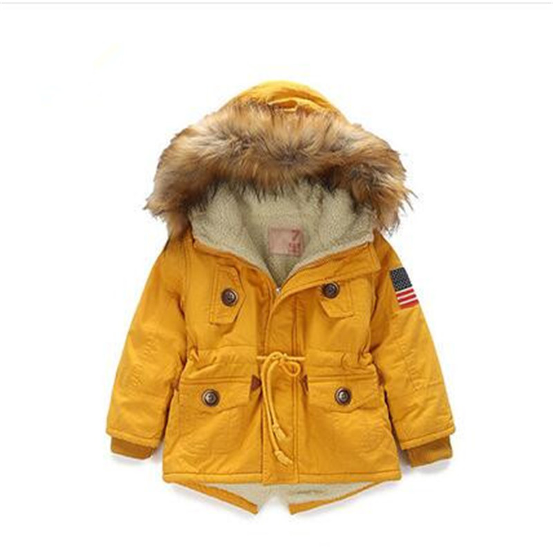 children coat Unisex children winter down warm jaclet Hooded fashion leisure boys girls outwear coat baby clothing