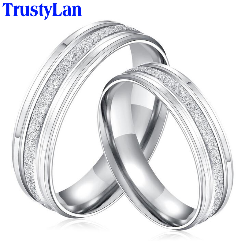 TrustyLan Wedding Engagement Rings For Men And Women His And Hers Couples Pro