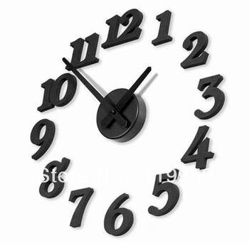 Stylish 3D Simple Wall Clock DIY clock Creative funny Clock gift craft products