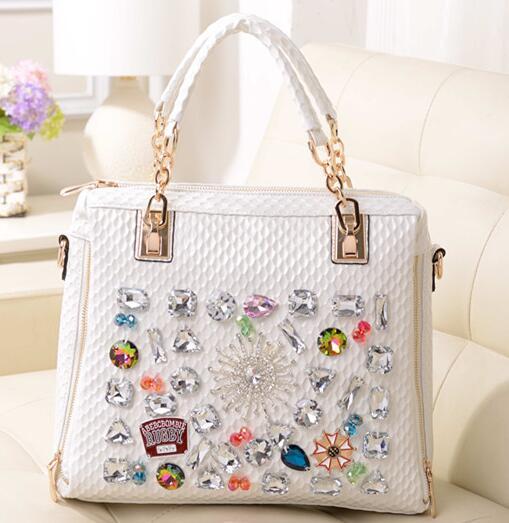 Fashion womens handbag diamond 2015 bags diamond rhinestone bag casual chain one shoulder cross-body handbag<br>