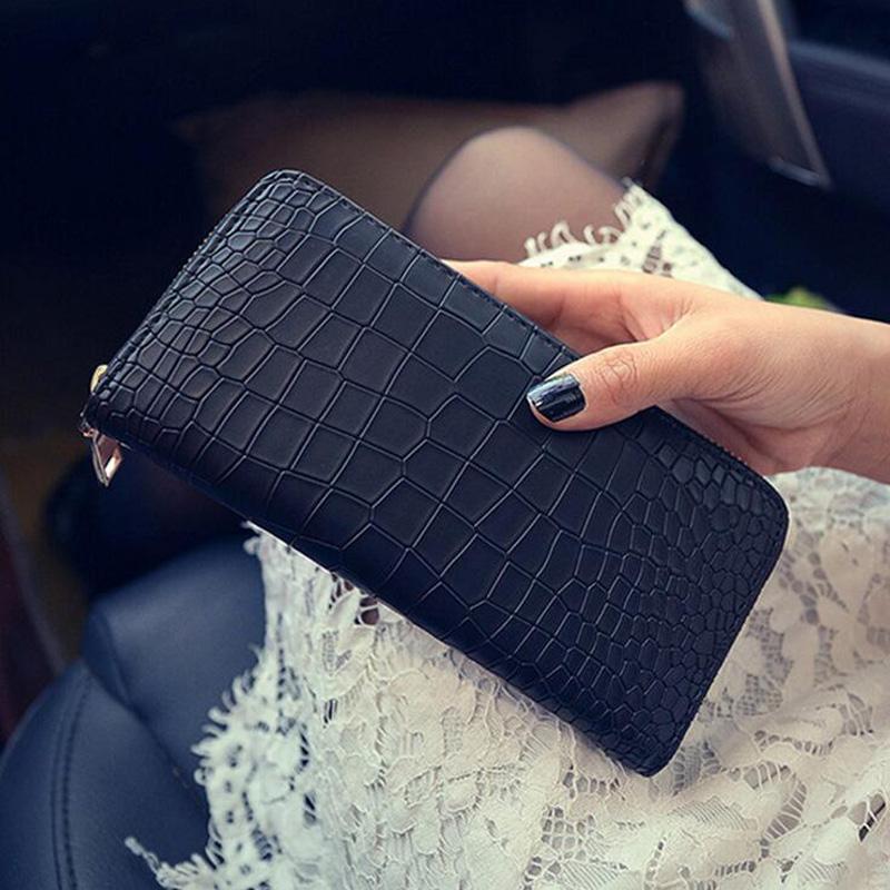 2016 new fashion women wallet, European style high-grade crocodile purse, long paragraph Clutch bag zipper bag and cell phone(China (Mainland))