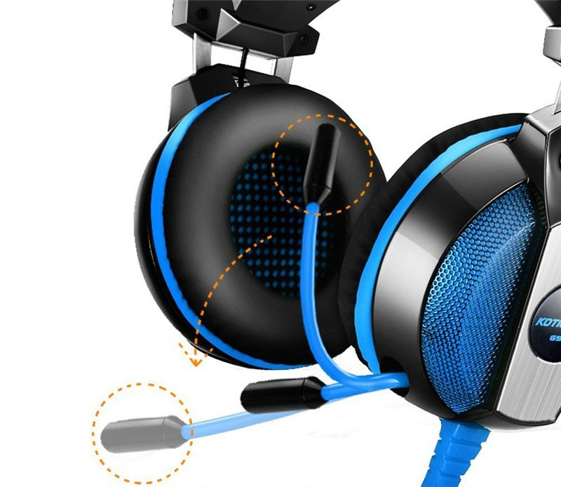 KOTION EACH 3.5mm Gaming Headset Stereo Bass Headphone with mic for computer xbox one ps4 playstation 4 Laptop pc gamer