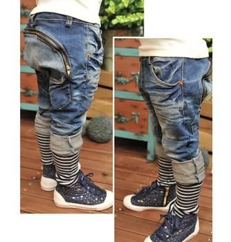 JK-028 Retail 2015 children jeans trousers spring new design children harem pants boys pants fashion kids wears free hipping