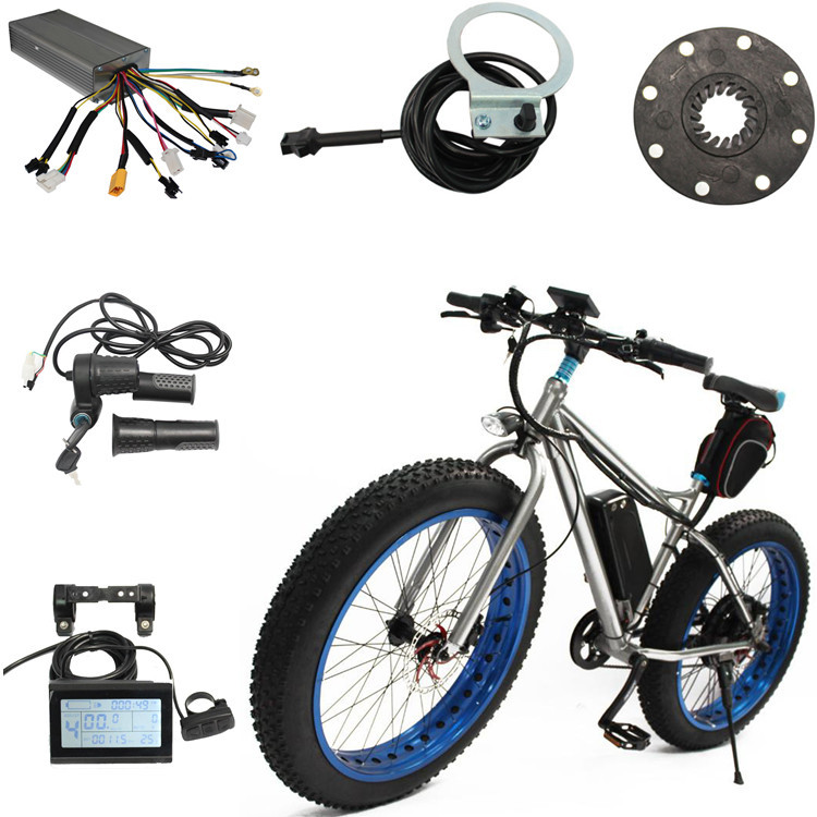 60V 1000W Electric Bike Conversion Kit 1 pair Brake Levers Twist Speed Throttle China Electric Bicycle Motors For Bikes(China (Mainland))