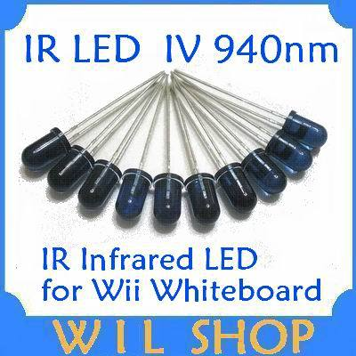 Free shipping wholesale 50pcs/lot 5mm 940nm Infrared Emitted LED IR Diode LED(China (Mainland))