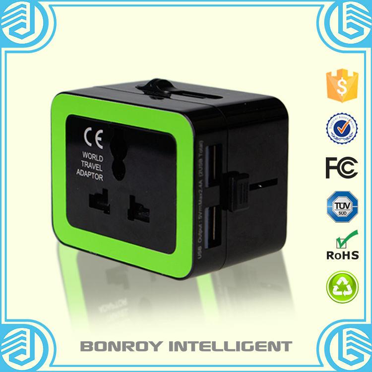 Mini EU to US America travel plug adapter/germany to usa adapter plug(China (Mainland))