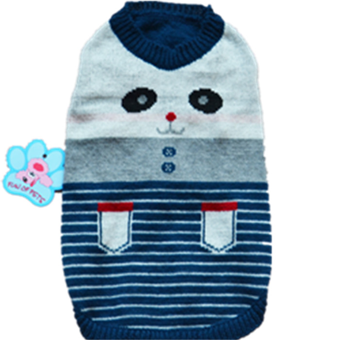 dog Sweaters pet clothes color Striped clothes fashion spring and antumn(China (Mainland))