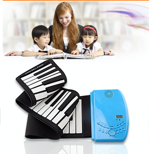 61 Keys Flexible Electronic Piano Keyboard Silicon Roll Up Piano USB Port With Sustain Pedal Loud Speaker Top Quality(China (Mainland))