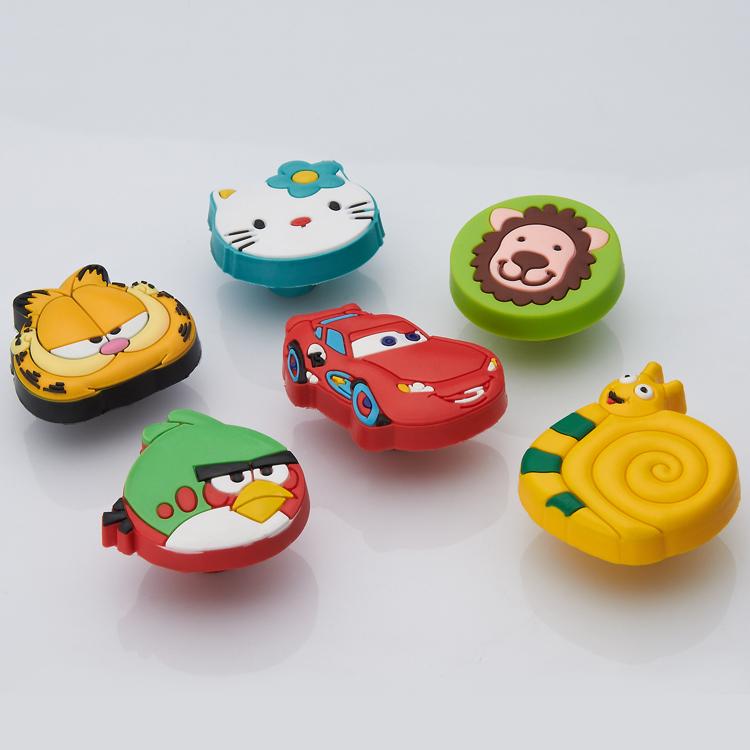 Children soft cartoon cabinet knobs drawer handles pulls for Children s bureau knobs