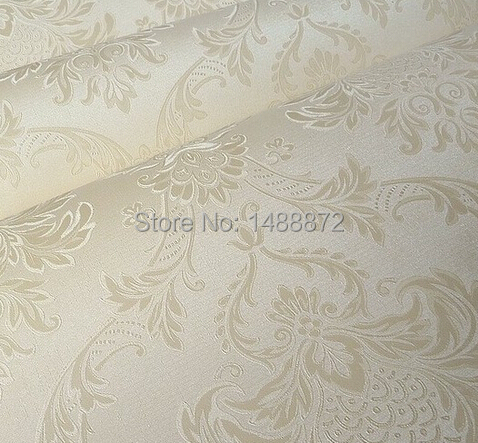 Beige / White / Pink 3d French Pattern Damask Wallpaper Wall paper Roll Wallcoverings,papel de parede para sala(China (Mainland))