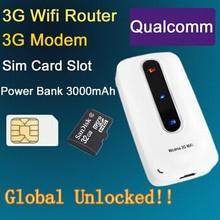 3G 4G Mifi/ Wifi/Wireless Routers Modem with SIM Slot Unlocked Hotspot 3000mAh Portable Charge/Power Bank PK Huawei E5331(China (Mainland))
