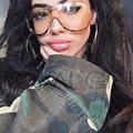ROYAL GIRL Retro Inspired Women Sunglasses Oversize Shield Metal Half Frame Sun Glasses ss622