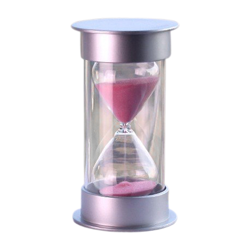 5pcs/lot Plastic Crystal Sandglass 15 Minutes Sand Clock Decoration Sandglass Timer pink TOOGOO(R)(China (Mainland))