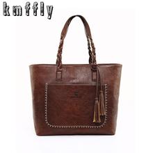 Buy KMFFLY Luxury Brand Women Shoulder Bag Soft Leather TopHandle Bags Ladies Tassel Tote Handbag Designer Handbags Ladies Hand Bags for $17.25 in AliExpress store