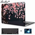 Cherry Blossom Print Crystal Clear Laptop Case For Macbook Pro 13 15 with Touch Bar A1706