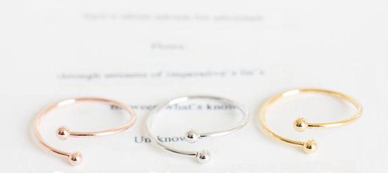 Кольцо Double Ball Ring 10 /2015 Sim Midi  JZ236 кольцо ring set midi 18k 2015 jz108