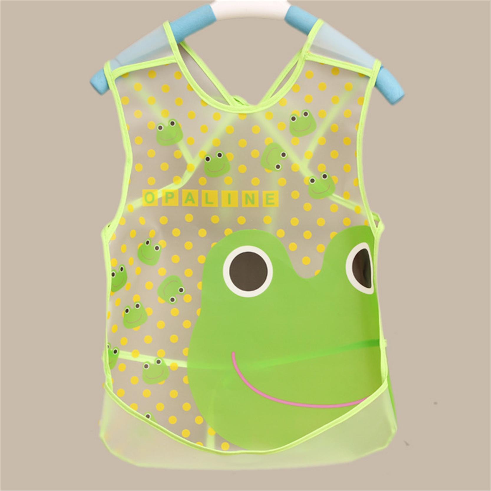2PCS Lot EVA Cute Baby Bibs Infant Boy Girl Waterproof Transparent Burp Cloths For Children font