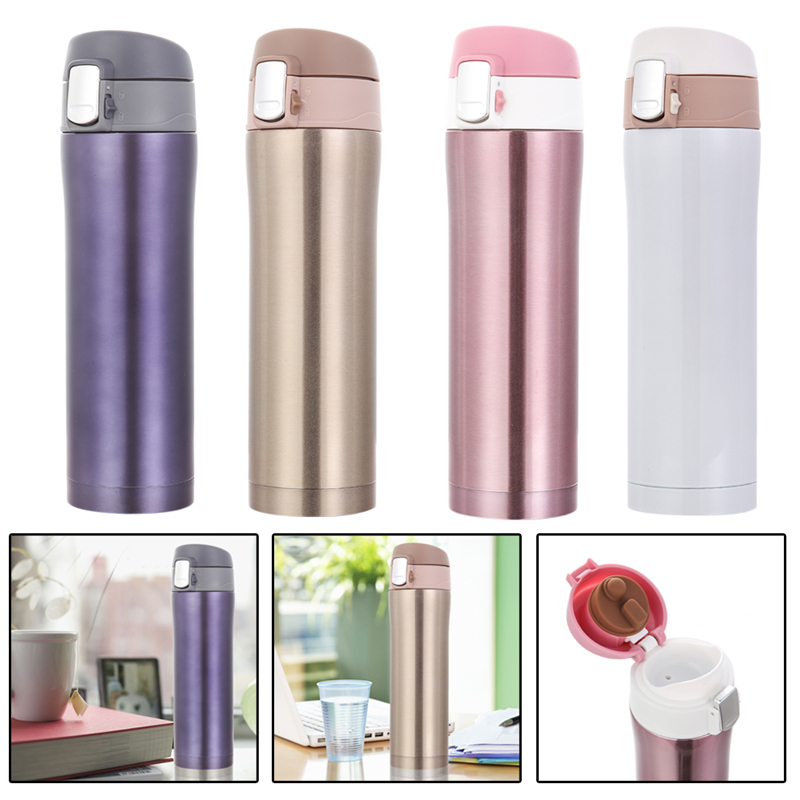500ml Stainless Steel Thermos Mug Insulated Tumbler Travel Cups Thermo Vacuum Cup for Office Home 4 Colors