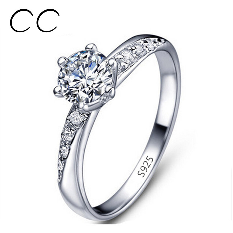 Aliexpress Buy Classic Simple Design White gold plated Engagement Rings