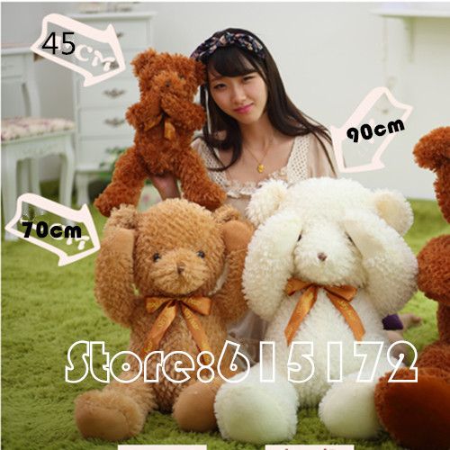 2015 New,Kawaii Cute,Cheap Giant Plush Teddy Bear Soft Toy,Brown/White Color,1 piece.H1(China (Mainland))