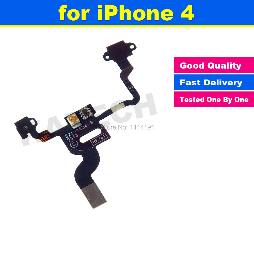 FREE SHIPPING Original Power Button Flex Cable Ribbon Light Sensor Power Switch On / Off Replacement for iPhone 4 4G(China (Mainland))