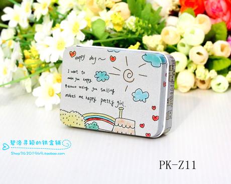 12pcs/lot vintage sweet tin case metal trinket box jewelry case sundries box(China (Mainland))
