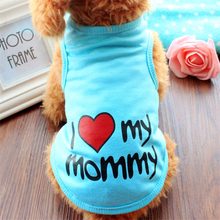 2016 Cute Pet Dog Clothes Spring T-shirt Soft Dogs Clothes Pet Cat Clothing Summer Cotton Shirt Casual Coats For Small Pets(China (Mainland))