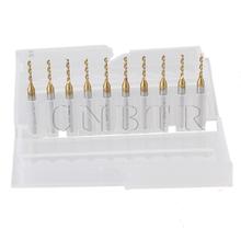 "CNBTR 10 x 1/8"" Shank 1.4mm Titanium Nitride Coated Carbide Micro Drill Bit PCB Router(China (Mainland))"
