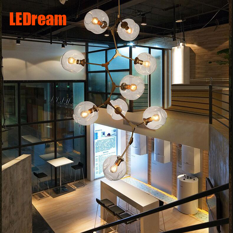 LEDream Contracted and creative personality sitting room dining-room art glass chandelier American cherry branches pendent lamp(China (Mainland))