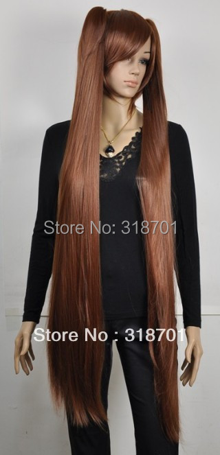 2013 New Arrival 2Lolita Ultra-long straight Auburn clip ponytails cosplay hair HEAT-RESISTANT FIBER wig Free shipping<br><br>Aliexpress