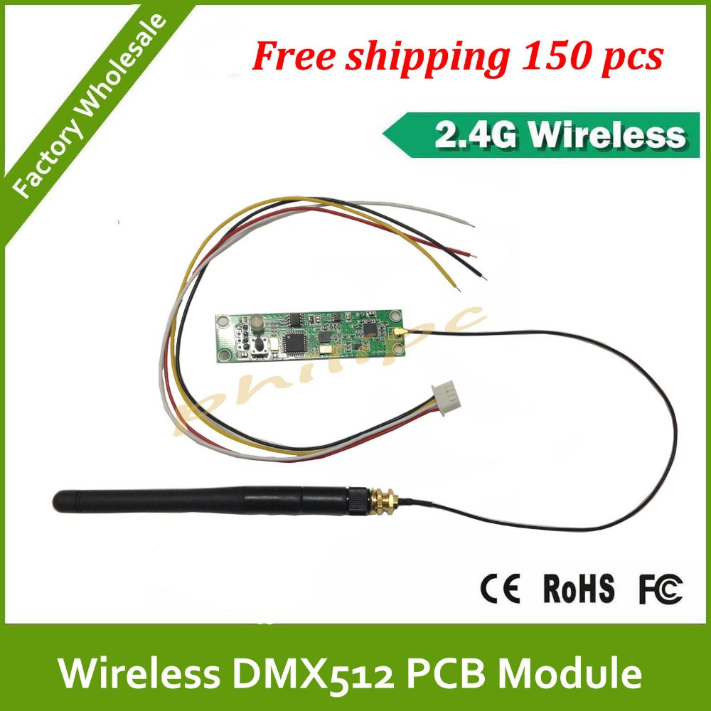 VIP Price, DHL Free shipping Wireless DMX DMX512 PCB Modules Board LED DMX Controller Transmitter Receiver(China (Mainland))