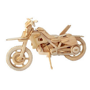 Scale Educational Motorcycle Vehicles DIY Wooden Model Miniature DIY(China (Mainland))