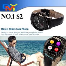 Мода SmartWatch NO. 1 S2 1.22 » жк-ip67 водонепроницаемый bluetooth-смарт часы телефон 3d-шагомер монитор сердечного ритма для Android