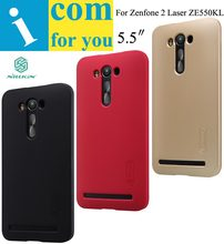 Genuine Nillkin Super Frosted Shield Protector cover case for Asus Zenfone 2 Laser ZE550KL 1pcs Screen film(China (Mainland))