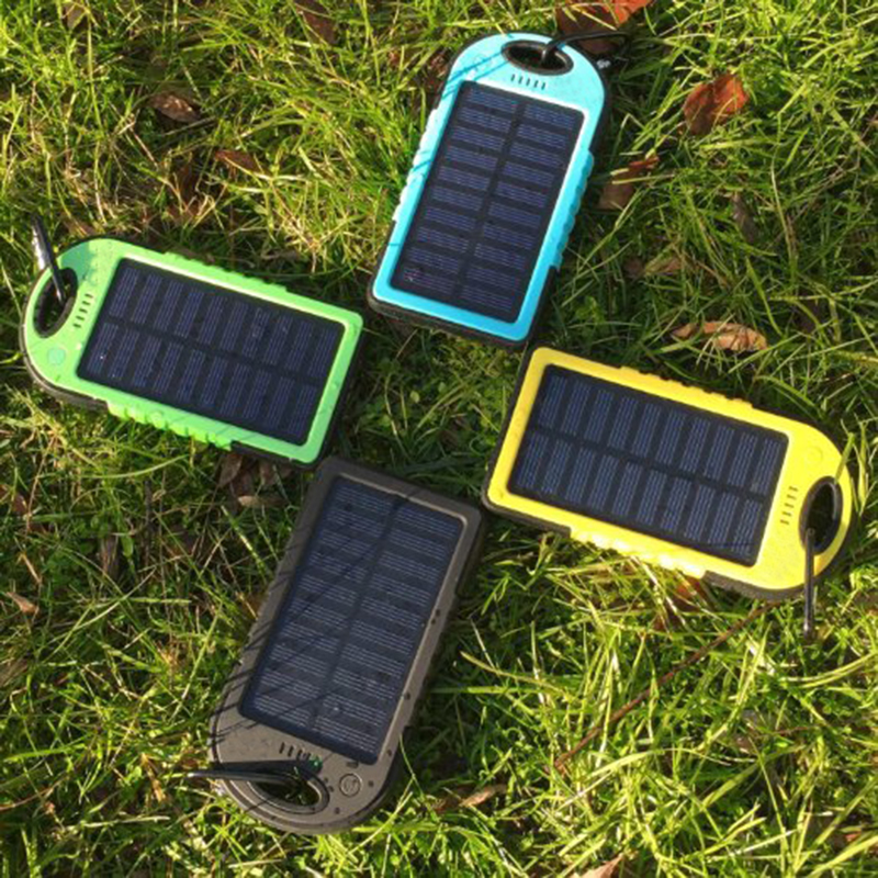 5000maH Ultra Universal Solar Power Bank USB Cellphone External Battery Pack for xiaomi Mobile Telephone Portable Charger kit(China (Mainland))